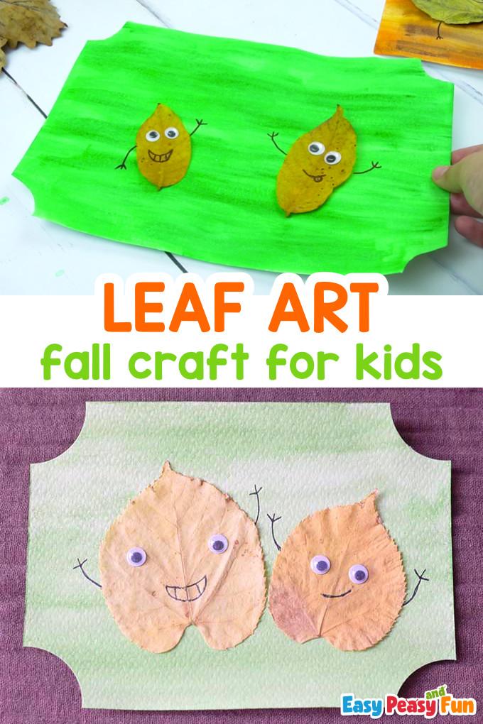 Blattkunst-Idee für Kinder