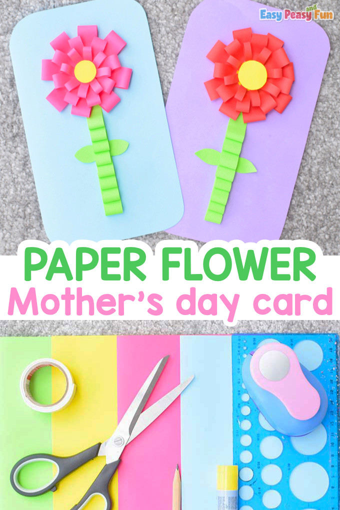 Paper Flower Mother's Day Card Idea