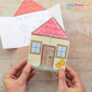 Paper House My Family Craft Template