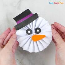 Paper Rosette Snowman Craft