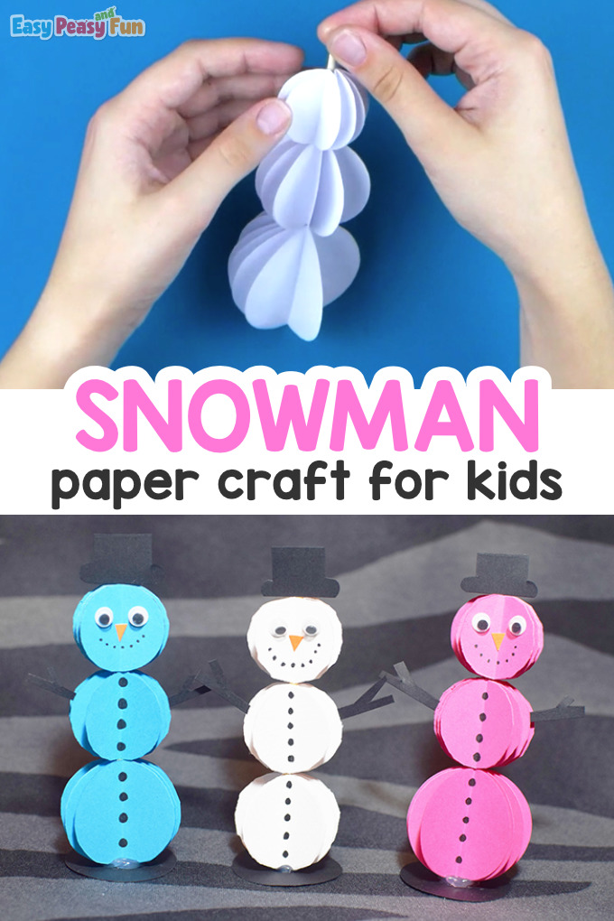 Paper Snowman Craft for Kids