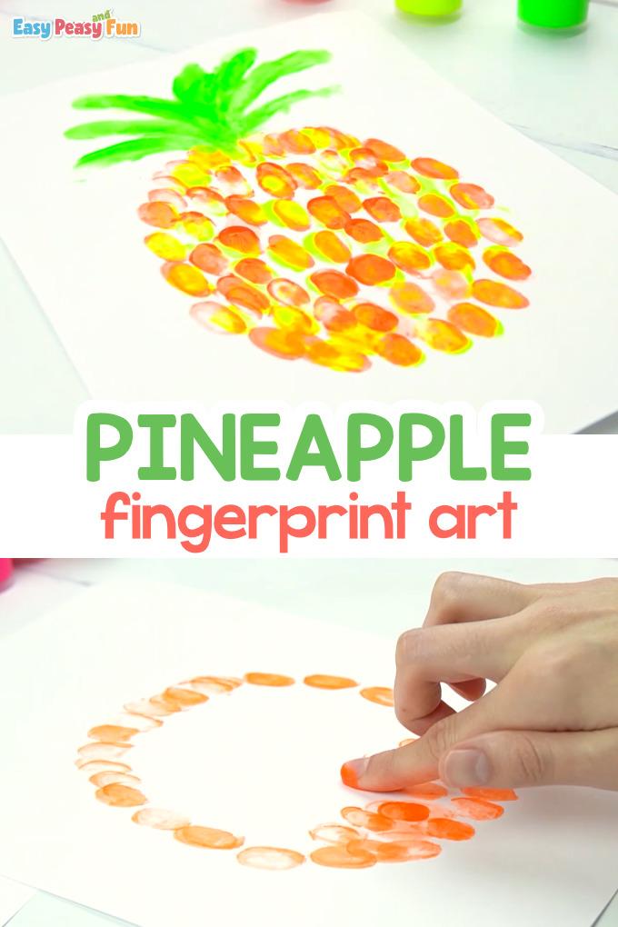 Pineapple Fingerprint Art Idea