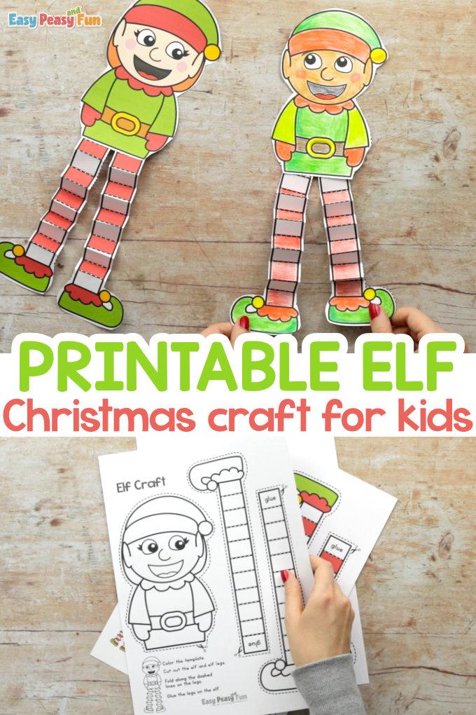 Printable Elf Christmas Craft for Kids