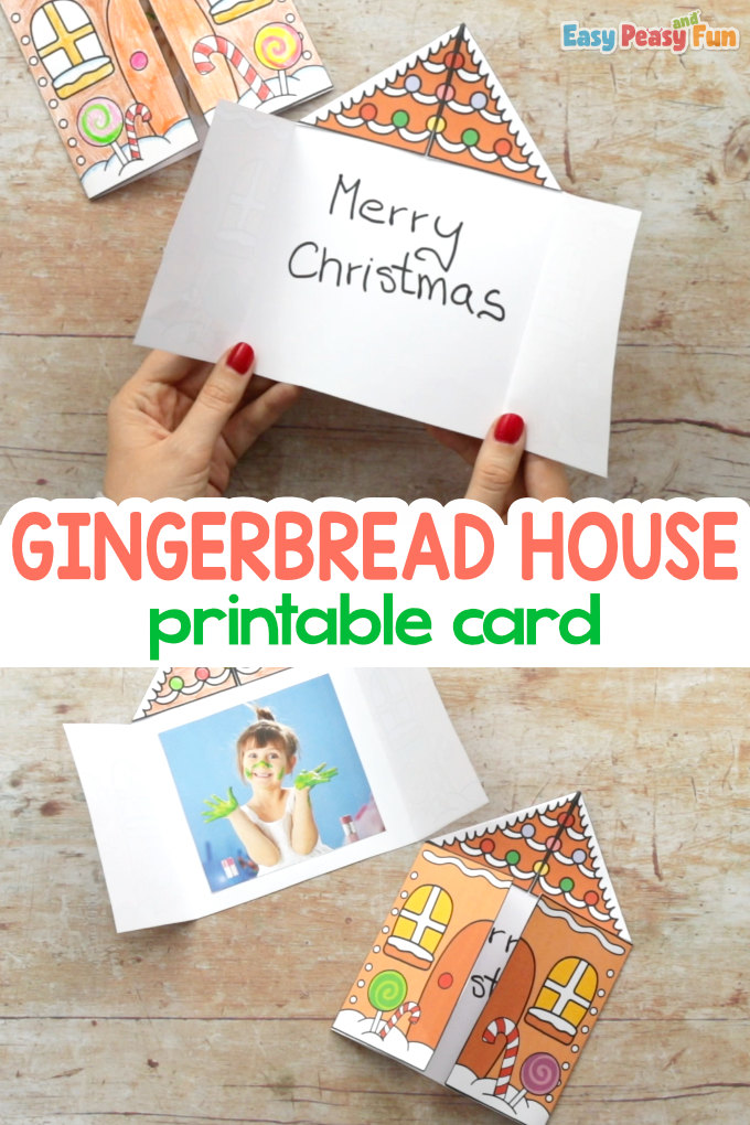 Printable Gingerbread House Card Christmas Craft