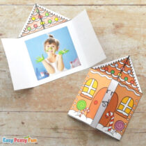 Printable Gingerbread House Card