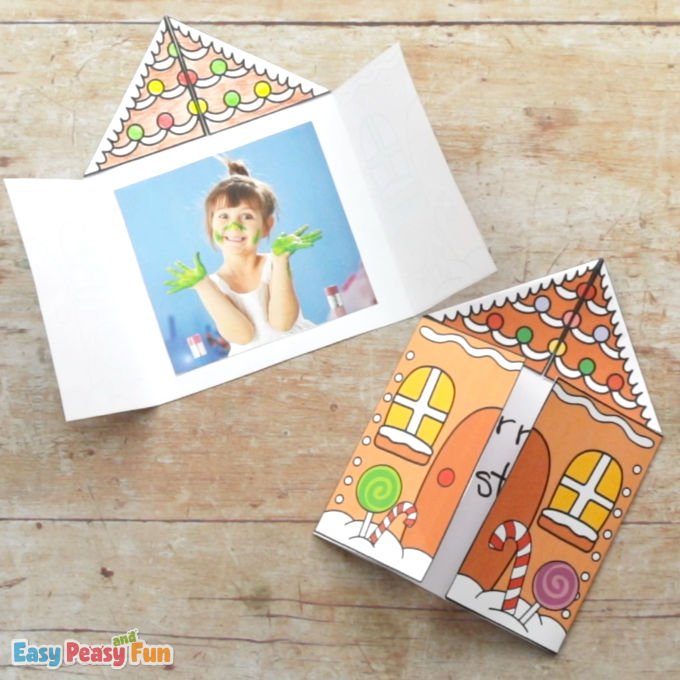 Printable Gingerbread House Card Template