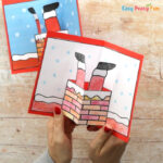 Santa in Chimney Pop up Card