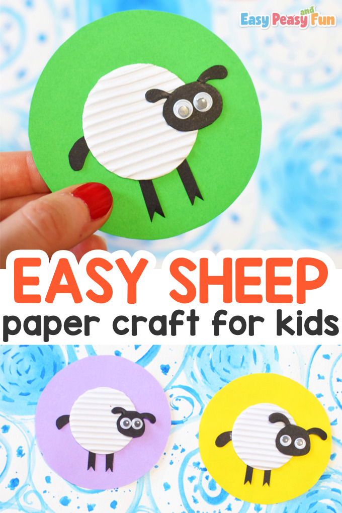 Simple Paper Sheep Craft