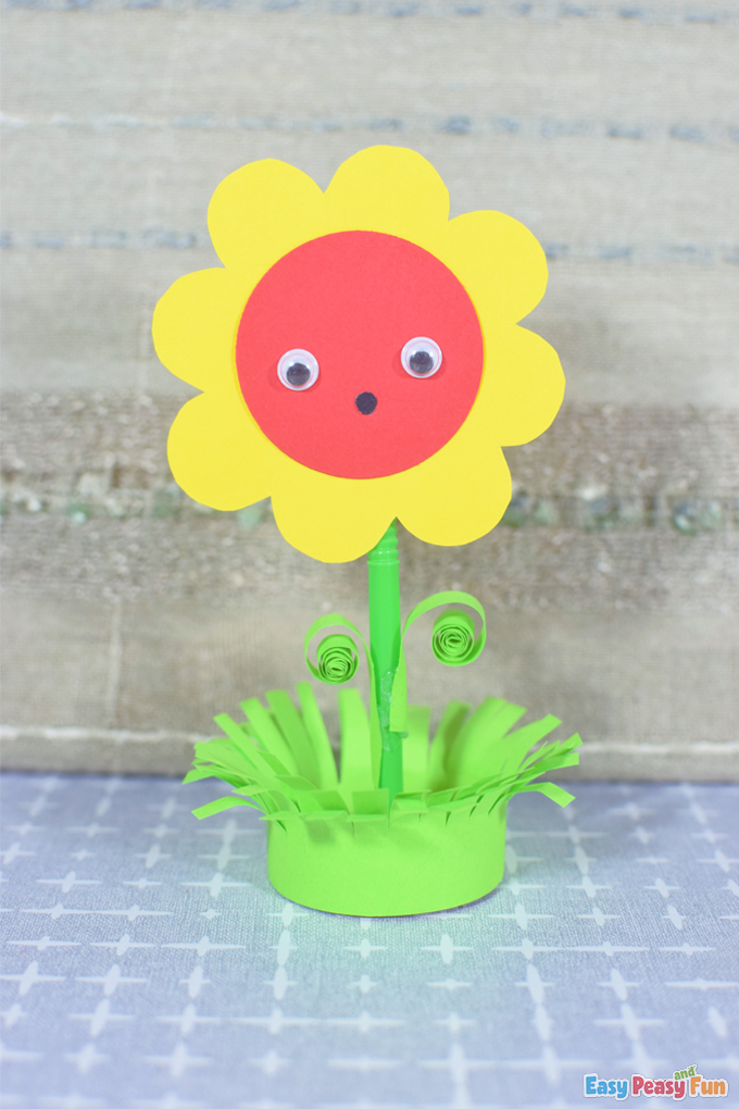 Spring Flower in a Pot Paper Craft
