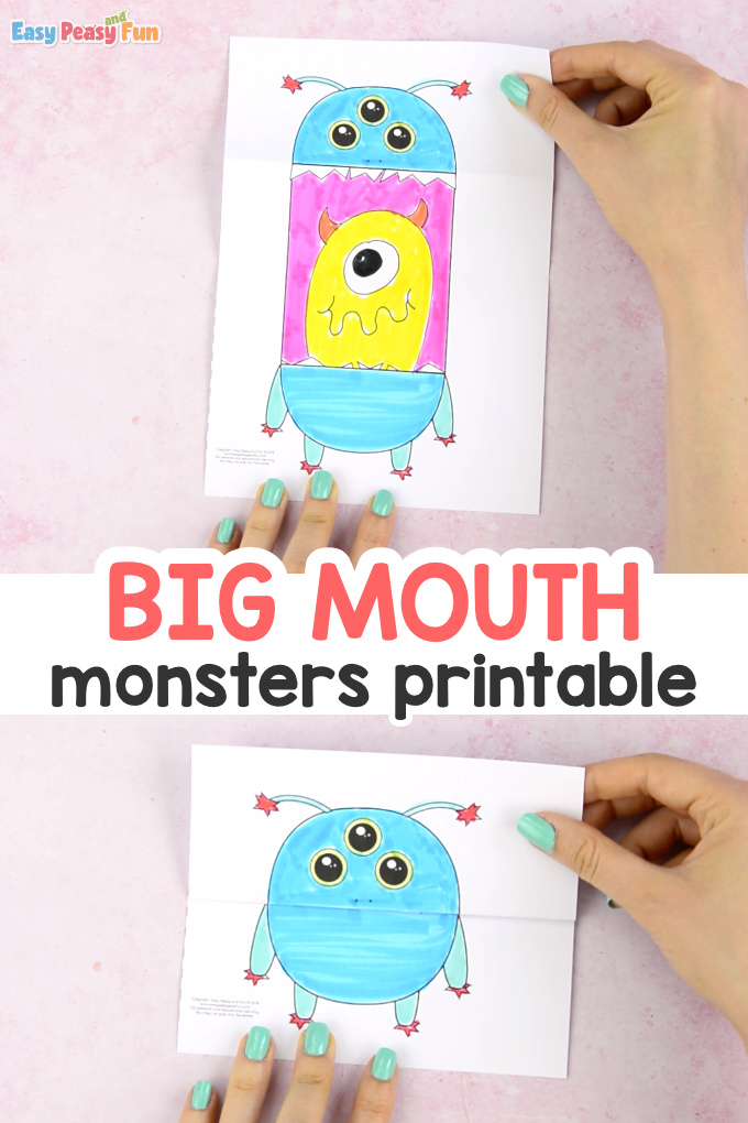 Surprise Big Mouth Monsters Printable Template