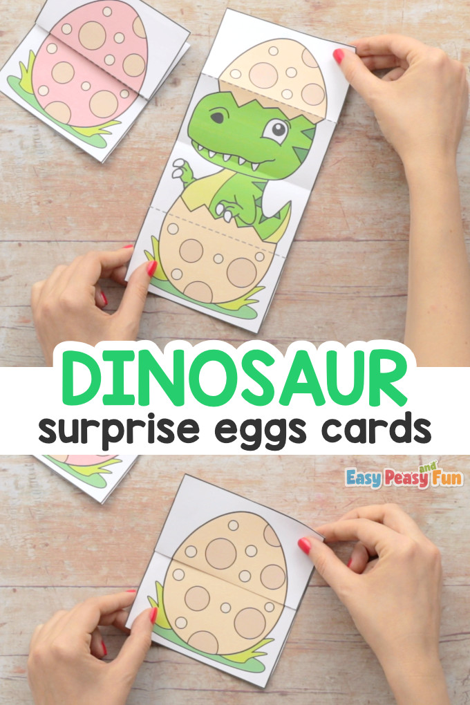 Surprise Dinosaurs Egg Cards Templates