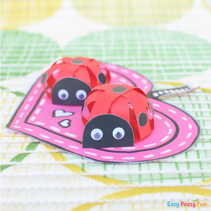 Valentines Day Paper Ladybug