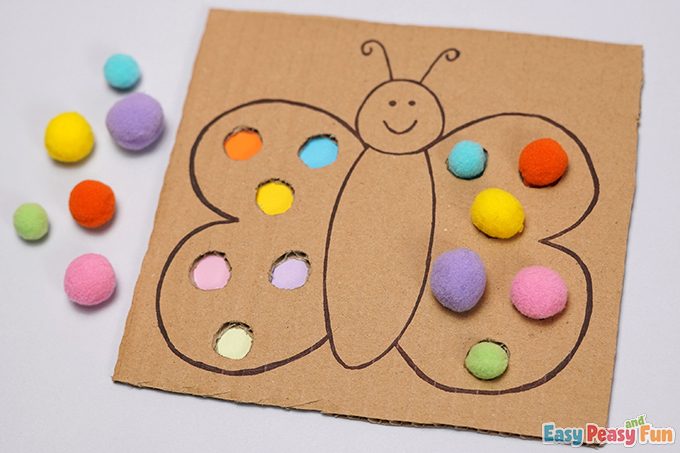 Butterfly Color Match Craft Activity