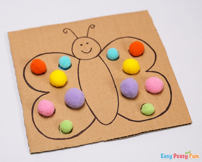 Cardboard Butterfly Color Match Activity