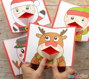 Christmas Pop Up Cards Templates