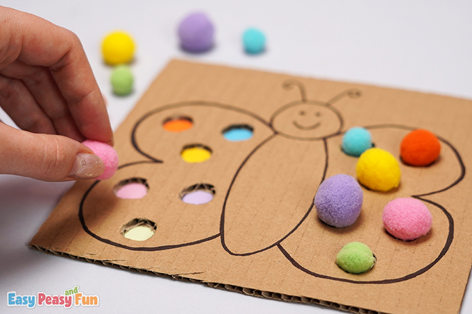 Color Matching Butterfly Craft Activity