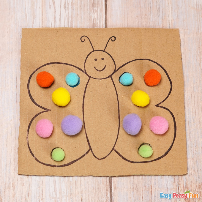DIY Cardboard Butterfly Color Match Activity