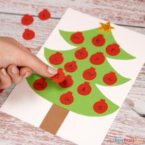 DIY Christmas Tree Letter Matching Activity