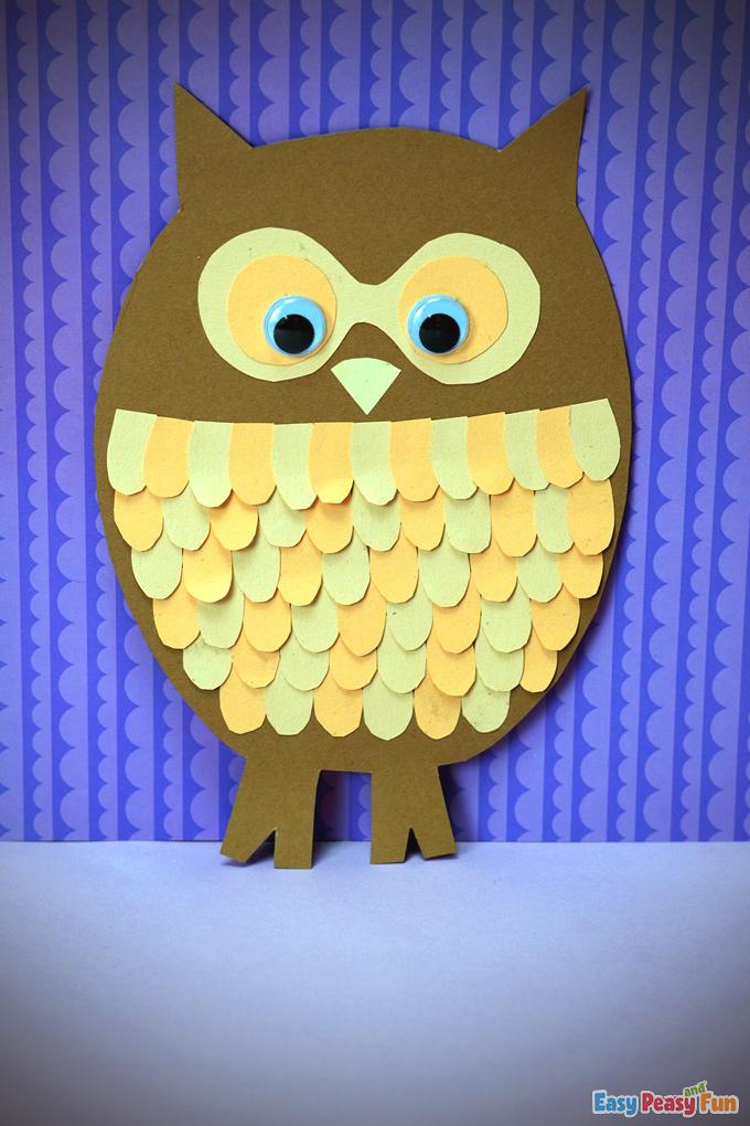 DIY Fall Paper Owl Craft