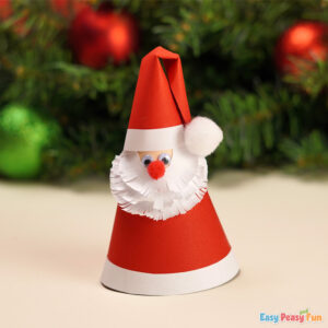DIY Paper Cone Santa Claus Xmas Craft