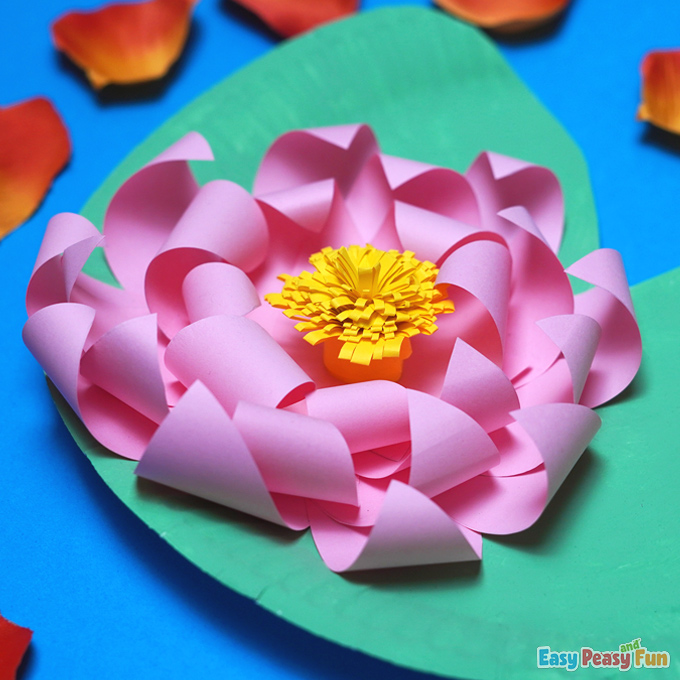 DIY Paper Water Lily Craft