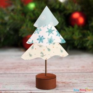 DIY Tabletop Paper Christmas Tree Decoration