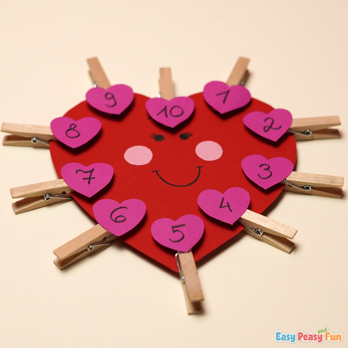 DIY V-Day Heart Number Matching Activity