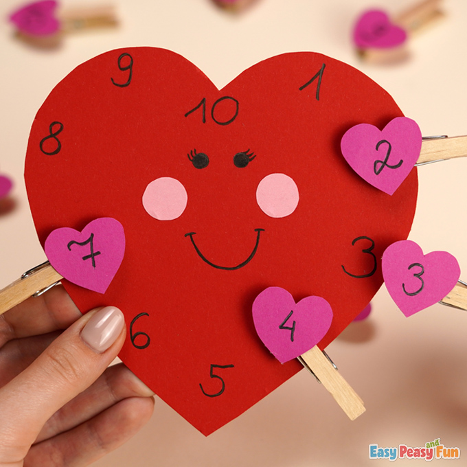 DIY Valentines Day Number Match Activity