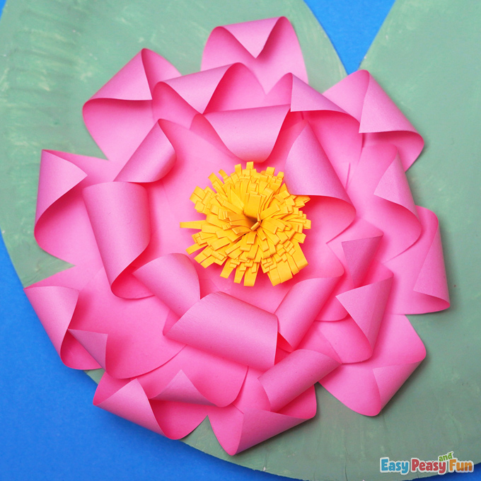DIY Water Lily Flower Craft