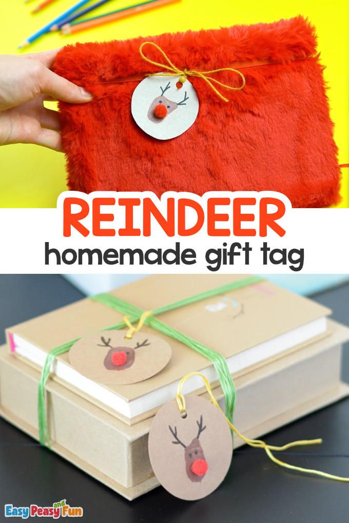 Homemade Reindeer Gift Tag
