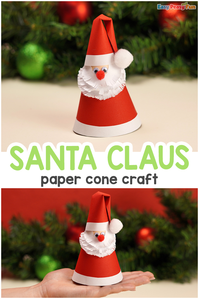 Papierkegel Santa Claus Tutorial