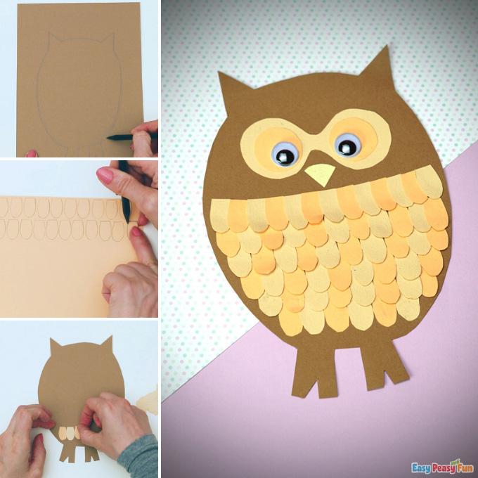 Paper Owl Craft Idea