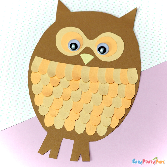 Paper Owl Fall Craft