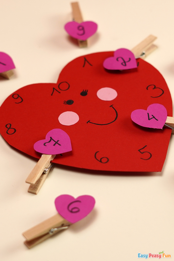 V-Day Number Matching Activity