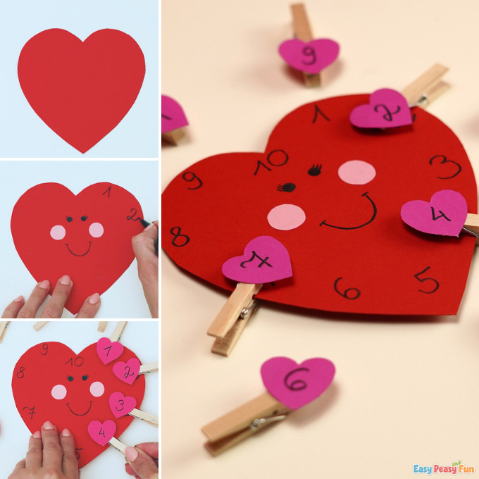 Valentines Day Number Matching Activity Idea