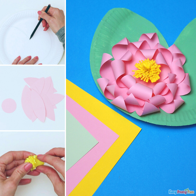 Water Lily Paper Craft Idea