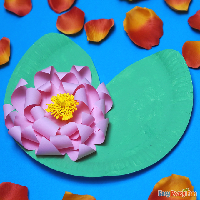 Water Lily Paper Plate Flower Craft