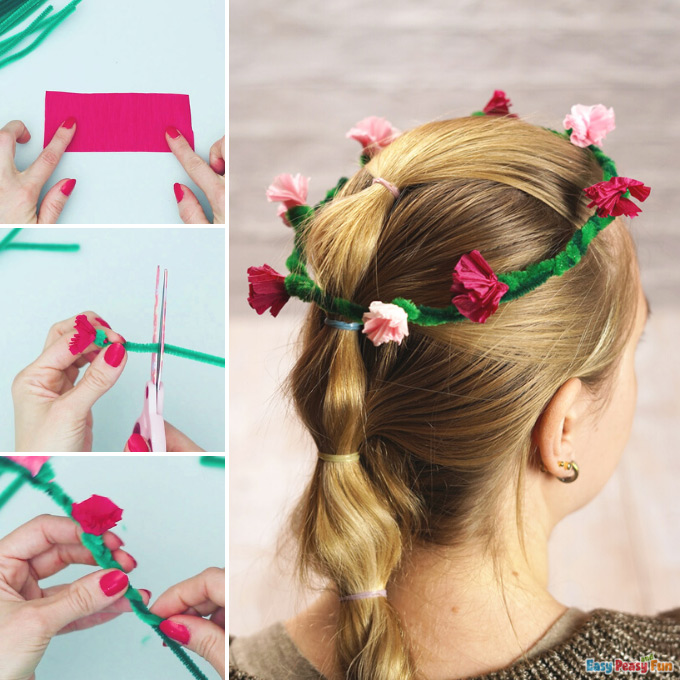 Pipe Cleaners Head Wreath Idea