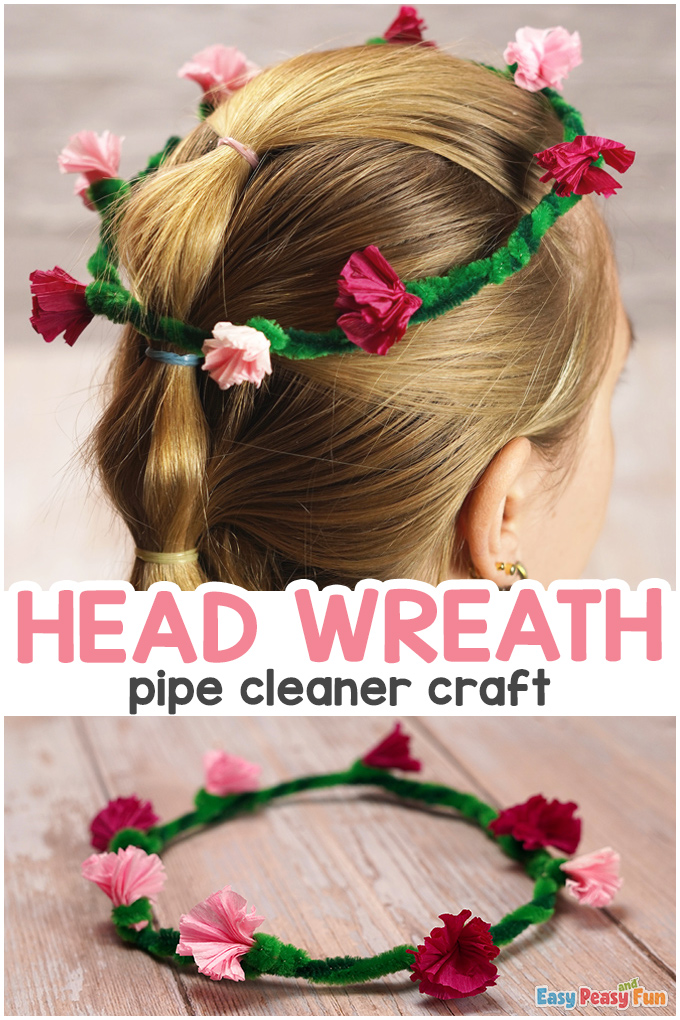 Pipe Cleaners Head Wreath
