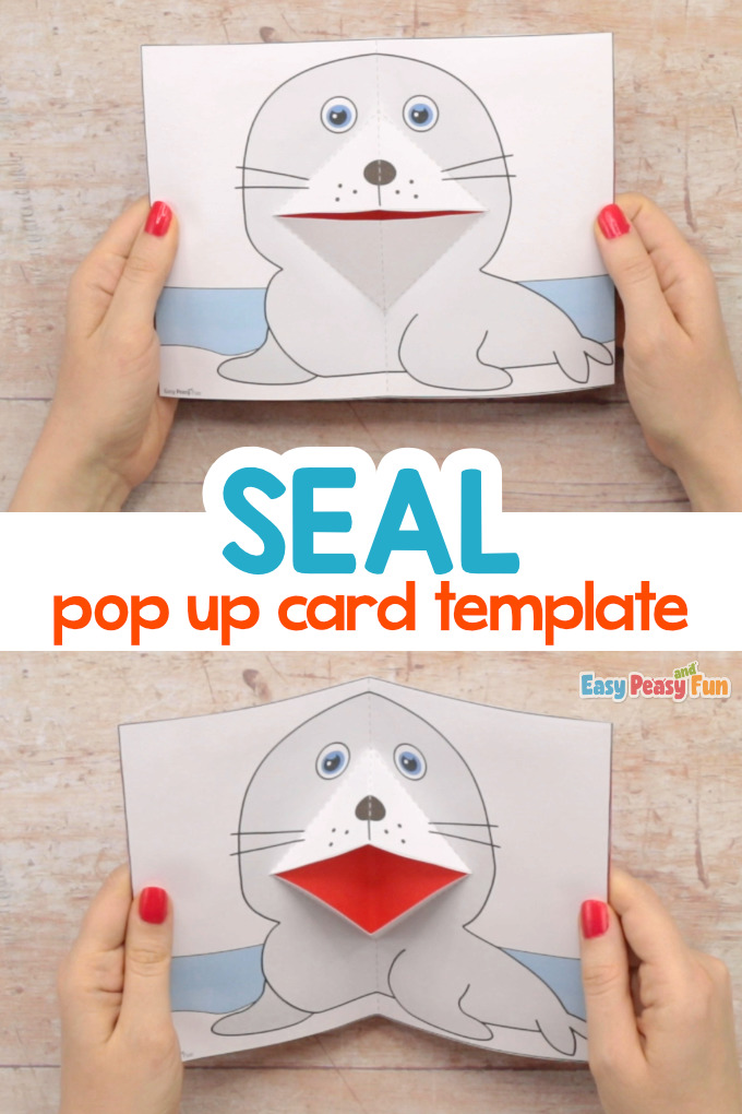 Seal Pop Up Card Template