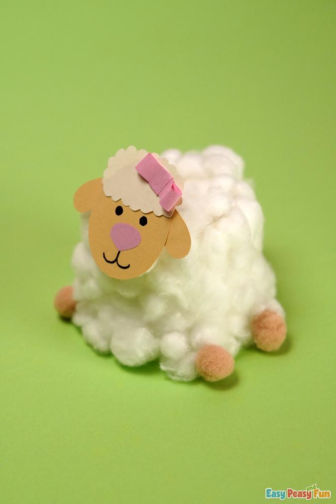 Cotton Ball Easter Sheep Craft