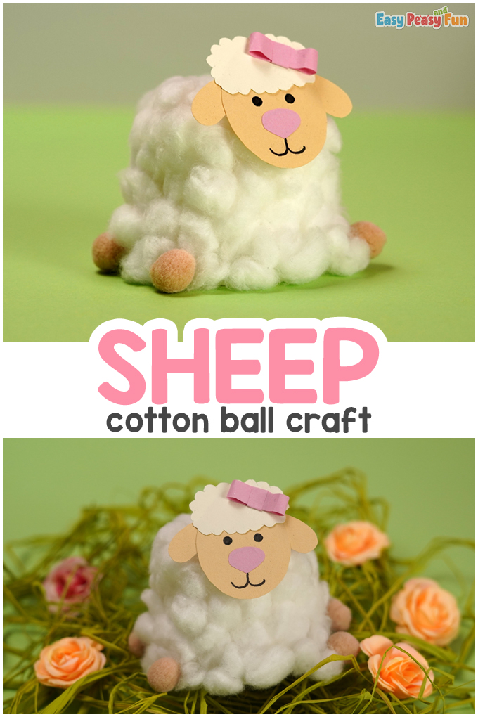 Cotton Ball Sheep Craft