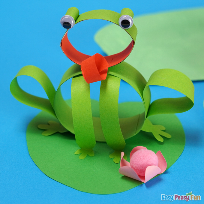 DIY Paper Frog Spring Craft