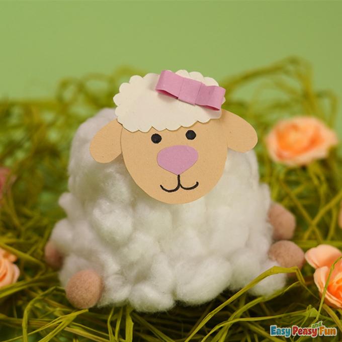 Easter DIY Cotton Ball Sheep