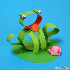 Frog on a Lily Craft made with Paper Strips