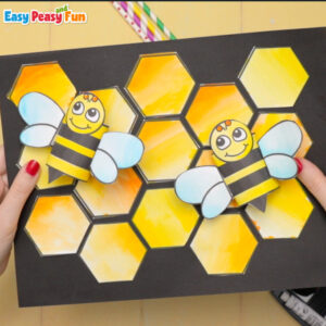 Honeycomb and bees craft for kids