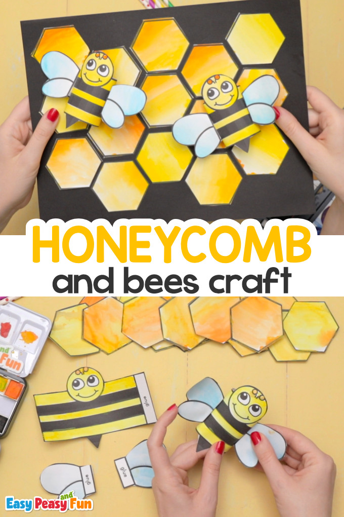 Honeycomb and bees craft