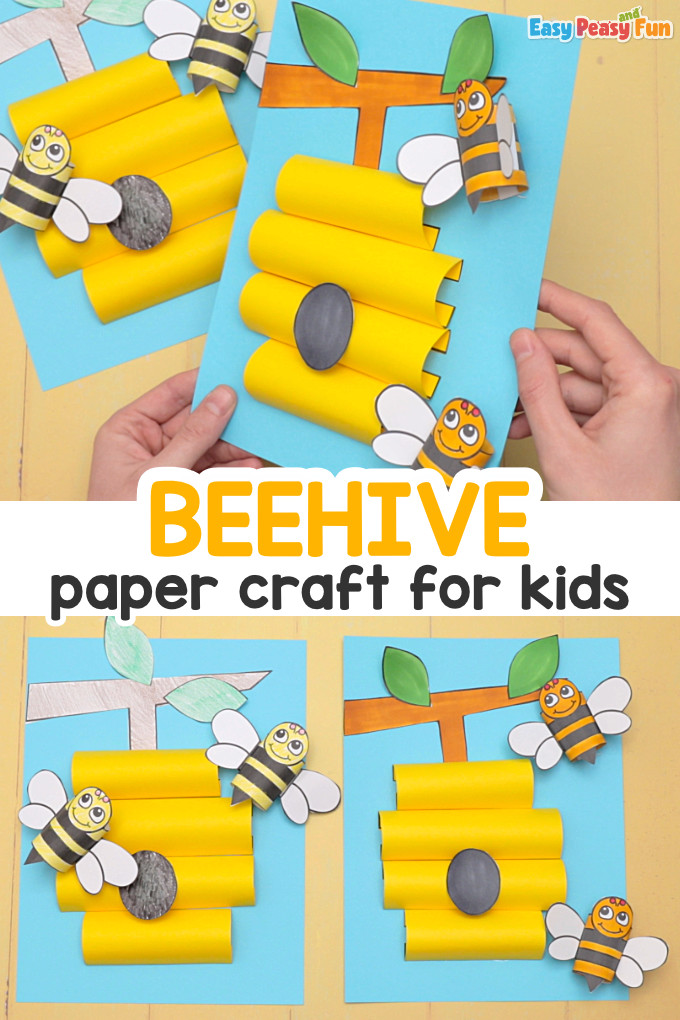 Beehive Paper Craft for Kids