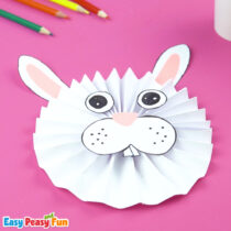 Paper Rosette Bunny Craft