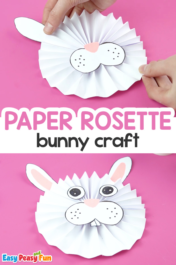 Paper Rosette Bunny Craft for Kids
